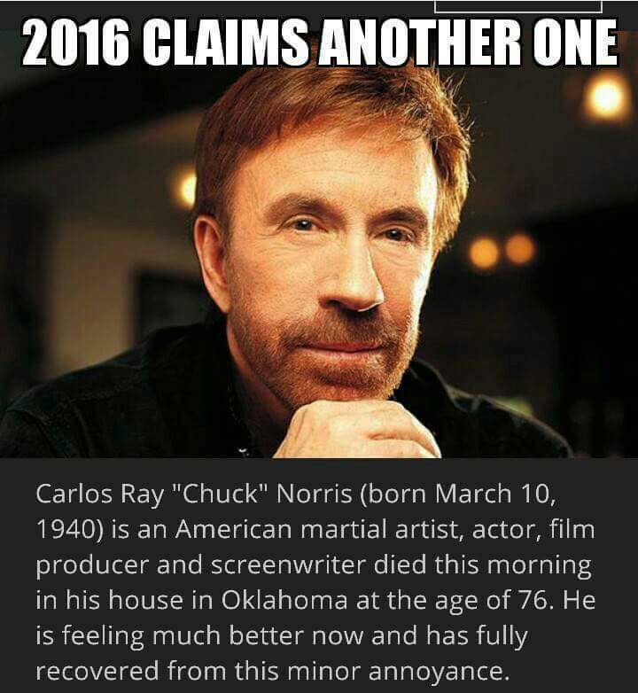 chuck norris fully recovered from 2016 death whatsapp. Black Bedroom Furniture Sets. Home Design Ideas