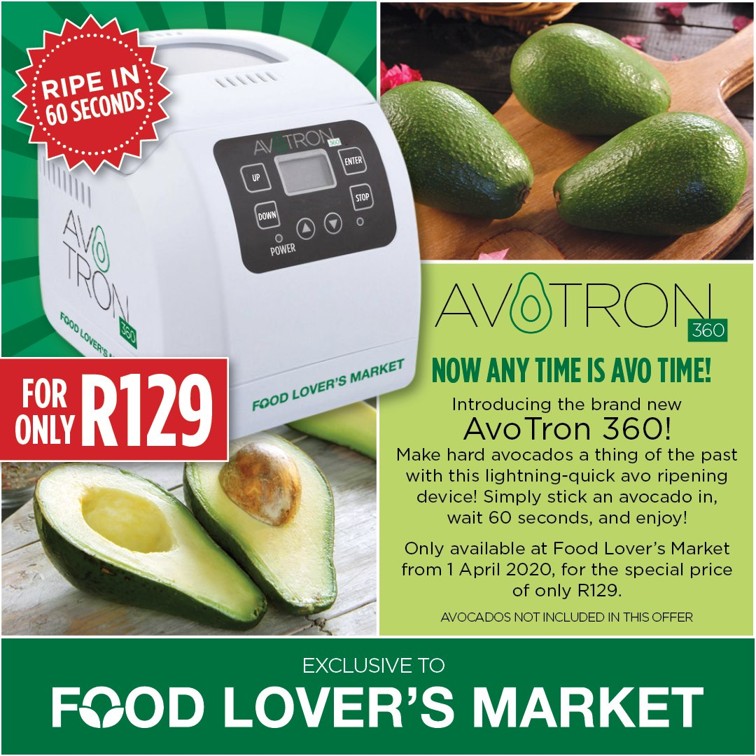 Food Lover's Market's AvoTron - Ripe Avos in 60 seconds. #aprilfoolsday